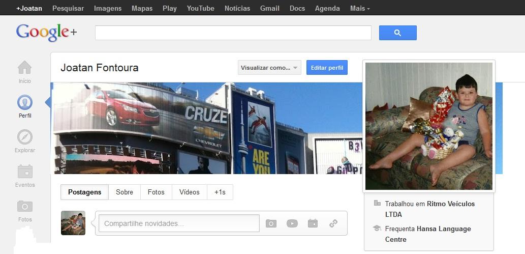 joatan fontoura foto perfil infancia google plus