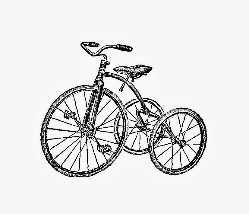 Tricycle Wheel Clip Art : Antique tricycle clip art bing images