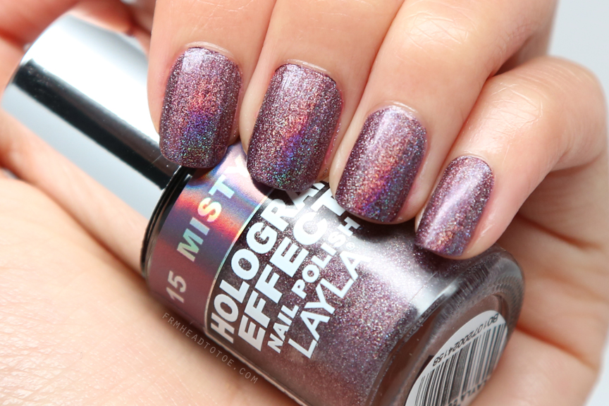For Today S Manicure Monday I Wanted To Share With You A New Polish Recently Purchased Laya Holograph Effect Nail In 15 Misty Blush