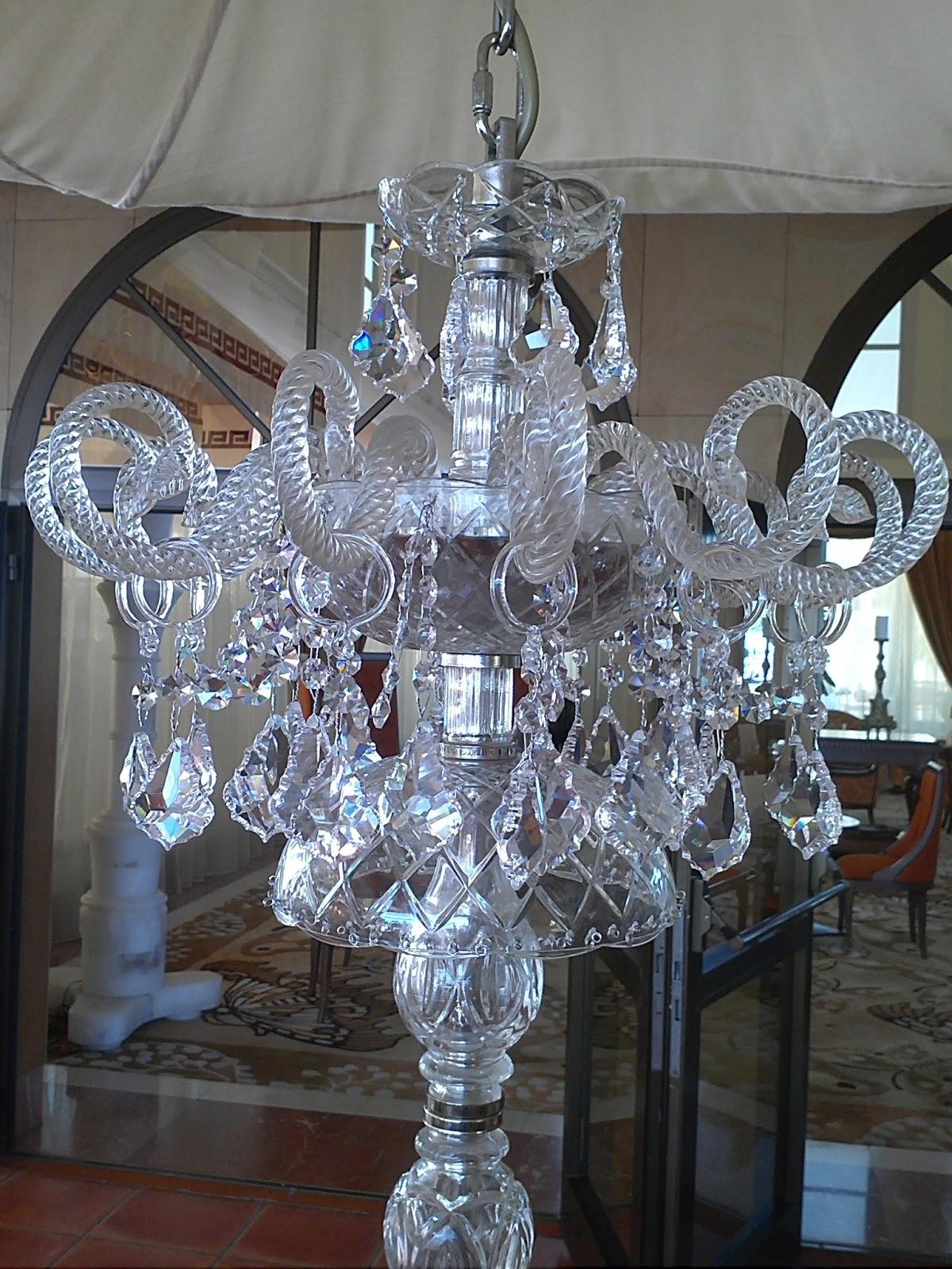 Restaurata cristal de roca vidrio o cristal - Lamparas cristal antiguas ...
