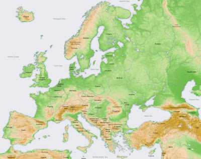 Europe Geography Map