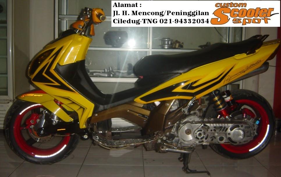 Modifikasi motor matic matic drag bike yamaha nouvo for Yamaha drag bike