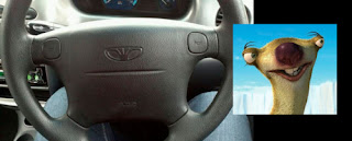 daewoo steering wheel logo looks like sid from ice age