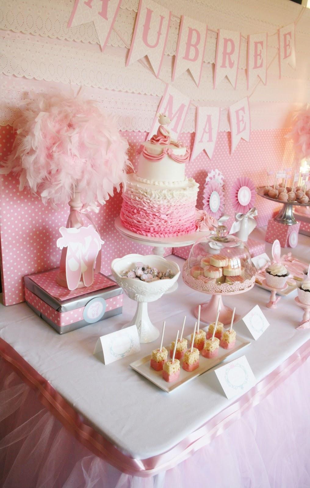 Little Big Company The Blog Ballerina Baby Shower Dessert Table