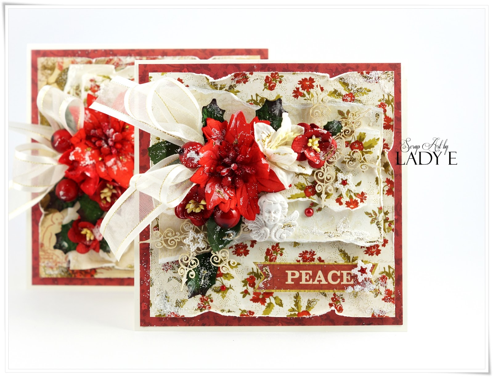 Traditional Christmas Cards & Video Tutorial Wild Orchid Crafts DT ...