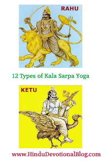 Picture of 12 Types of Kala Sarpa Yoga in Hindu Astrology and Horoscope
