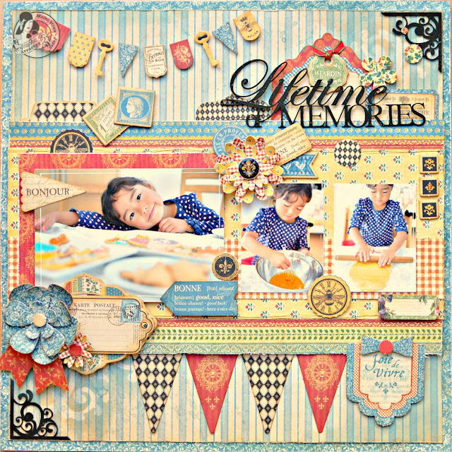Graphic45#Maiko Miwa#French Country#Layout