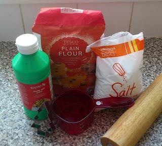 ingredients for salt dough