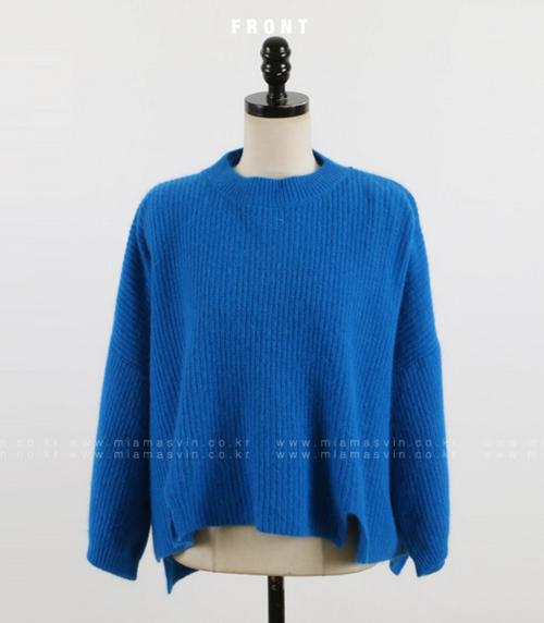 Boxy Rib Knit Pullover