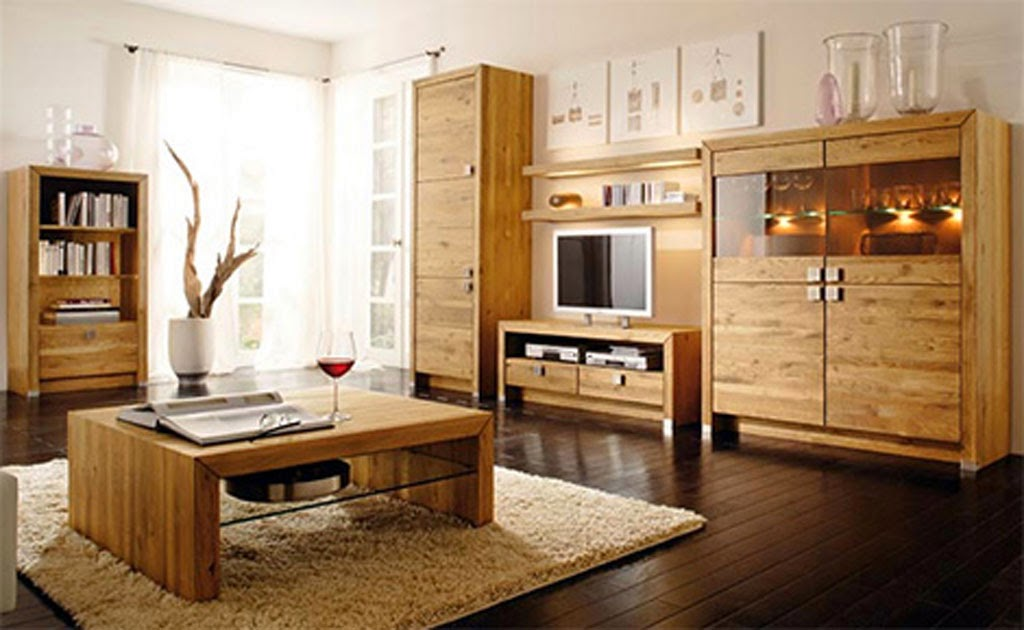 wooden finish living room