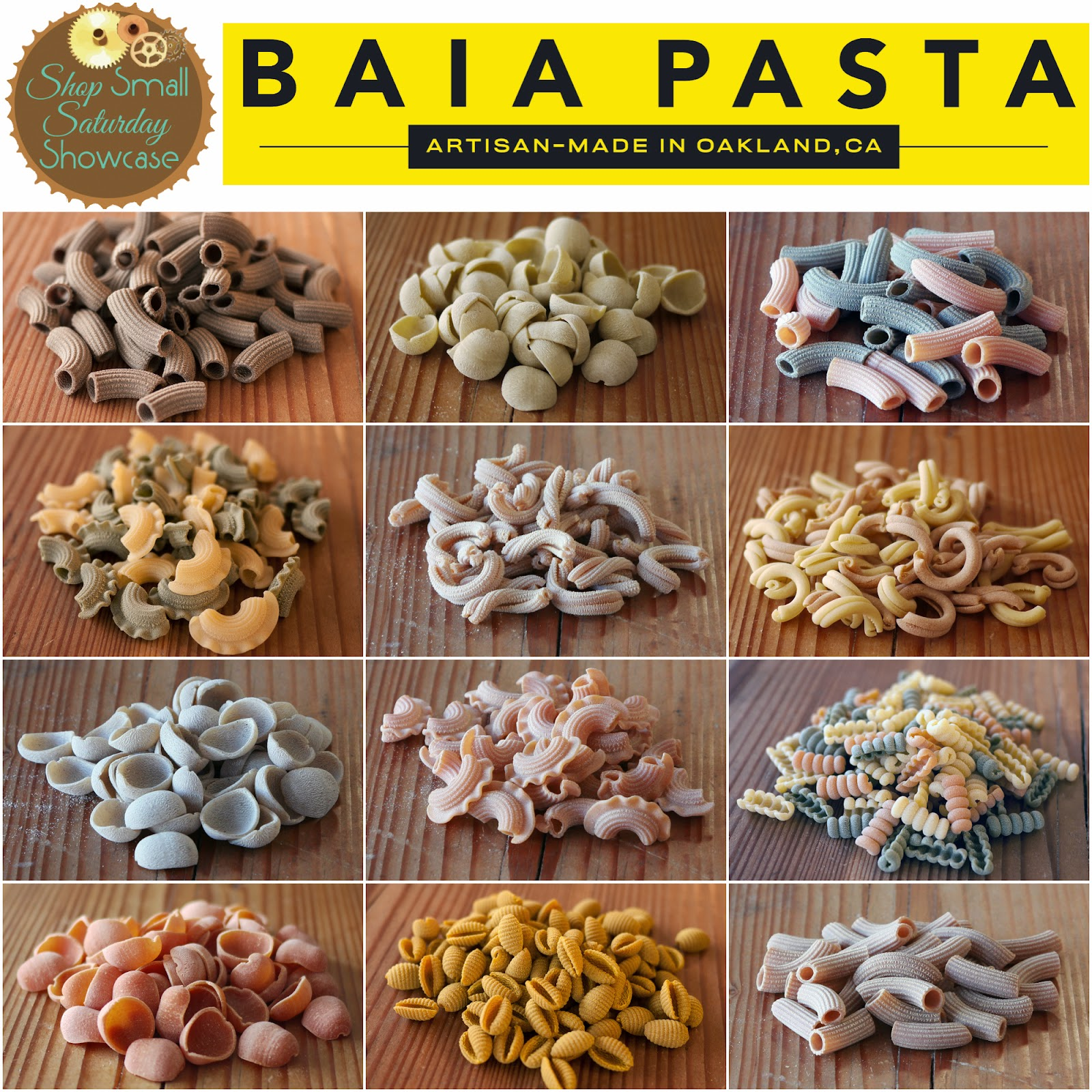 Baia Pasta feature on Shop Small Saturday at Diane's Vintage Zest!