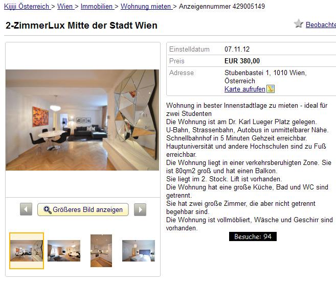Wohnungsbetrug.blogspot.com: 2-ZimmerLux Mitte Der Stadt