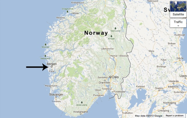 From There To Here May - Norway nutshell map