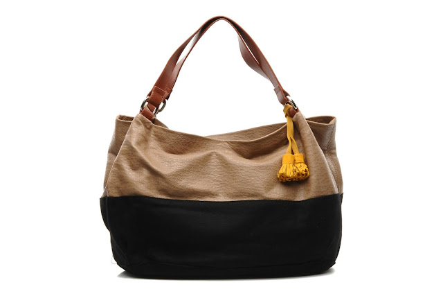 Colour block slouchy handbag from Mellow Yellow