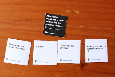 Mixing feminist cards against humanity with the original funny CAH.a