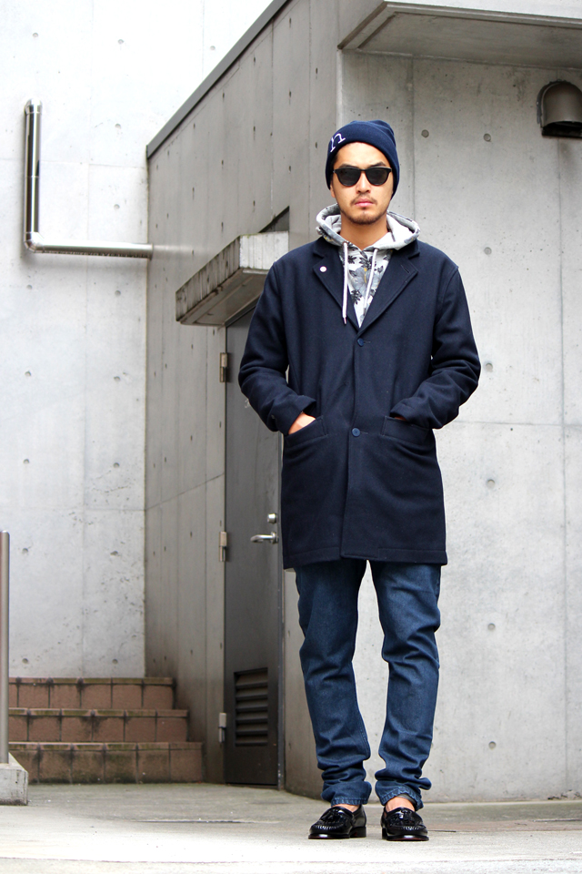 HAN - BEANIE h - ¥8,424 (Han) HAN - BANKER TRENCH COAT - SIZE L - ¥54,000  (Han) HAN - DENIM PANTS LEAN FITTED - SIZE W32 - ¥24,840 (Han)