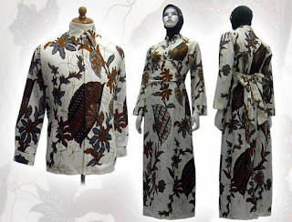 model baju batik modern 2012