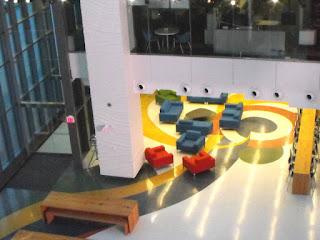 Corus Quay, Atrium: Corus Entertainment Building - Overlooking the Atrium, photo by wobuilt.com
