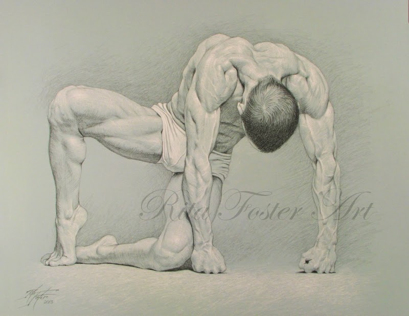 ART BY RITA FOSTER: Charcoal Drawing VEINS
