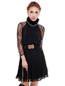 Mini dress pesta lengan panjang