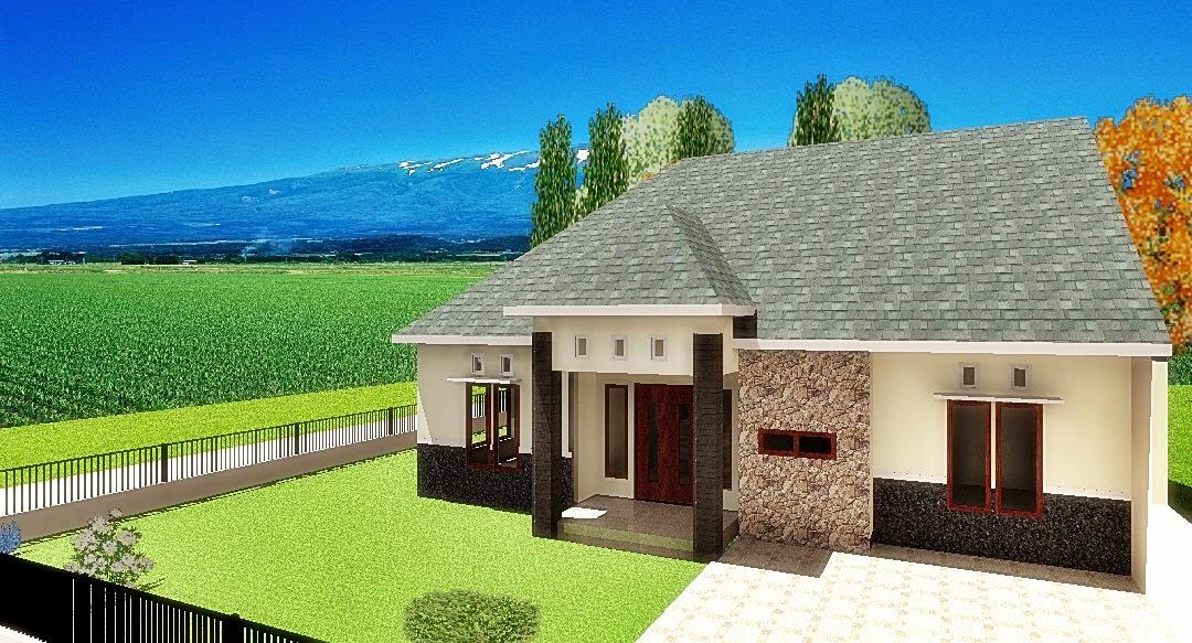 desain rumah tumbuh di tanah 256 m2 desain pertama kedua