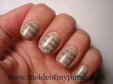 Newspaper Nails- Gazete Baskili Tirnaklar