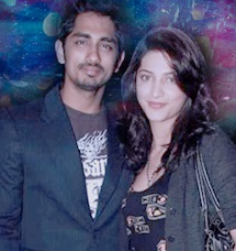 Siddharth and Shruti Hassan
