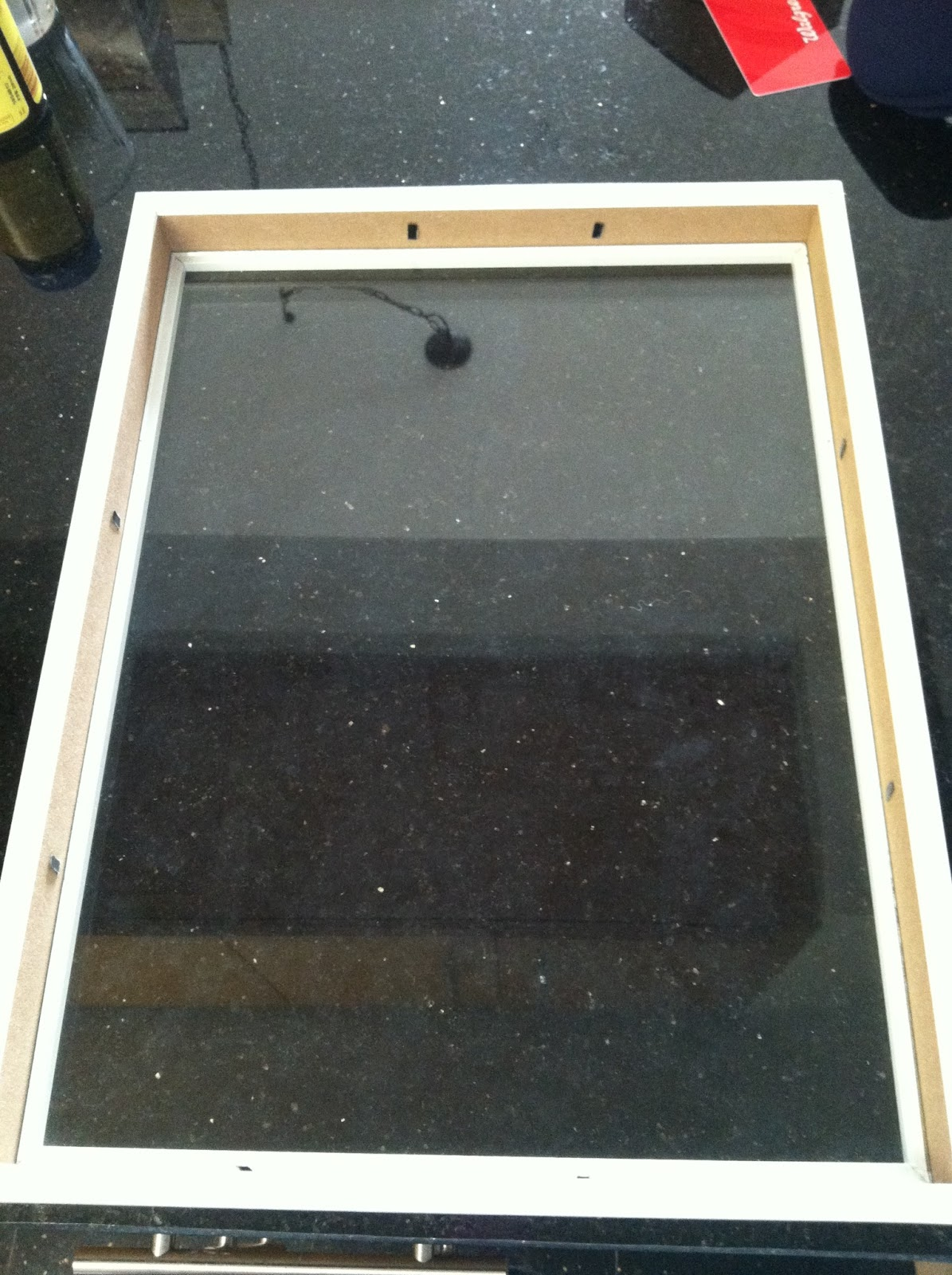 frame before applying glue