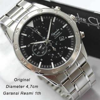 harga jam tangan keren original AC 6356 silver