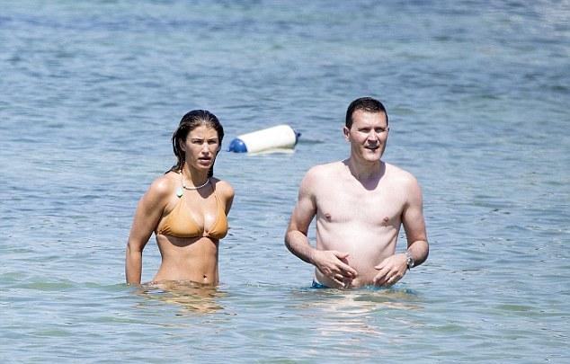 Amy Willerton flaunts barely there bikini on Ibiza beach