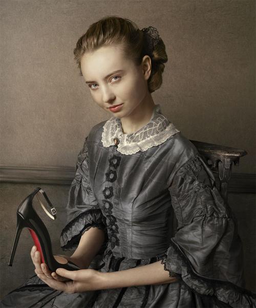 Jean Baptiste Camille Corot Portrait of a Girl zapatos Christian Louboutin