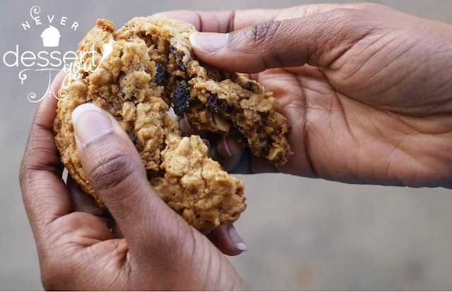 Never Dessert You Oatmeal Raisin Cookies