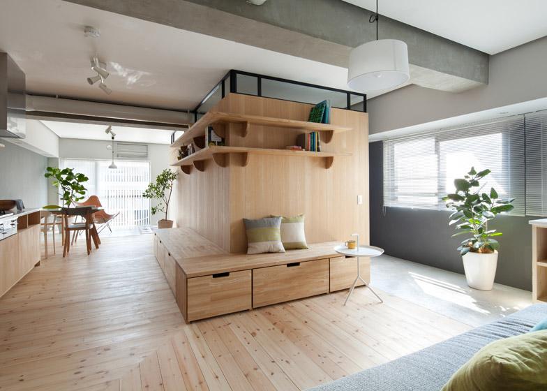 Parete Divisoria In Legno : Appartamento con parete divisoria in legno by studio sinato arc
