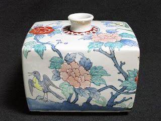 五代 佐藤走波 作 花鳥文 花瓶 六十五歳作品