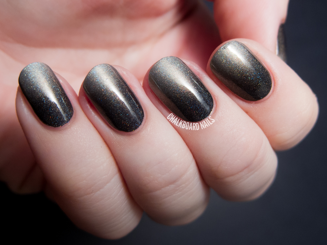 Smoky Holographic Gradient with I Love Nail Polish | Chalkboard ...