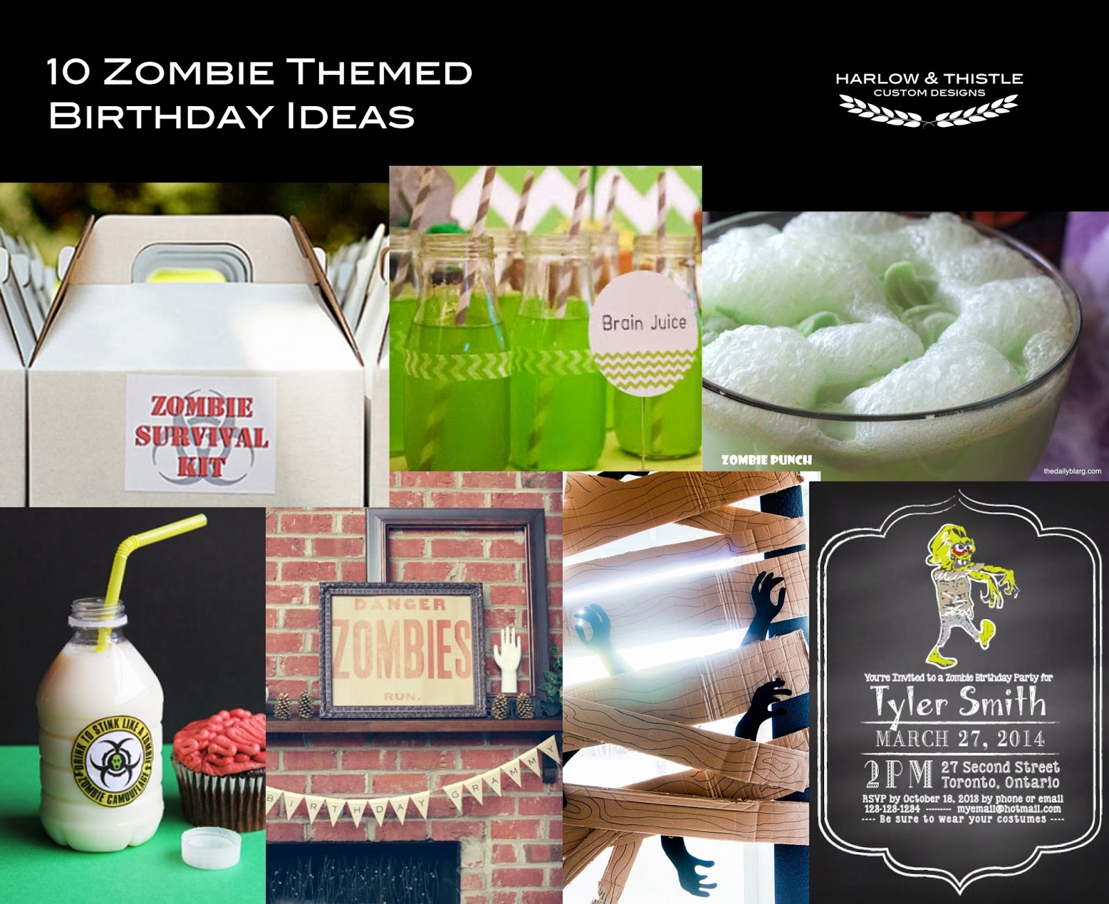 10 DIY Zombie Birthday Ideas Harlow Thistle Home Design