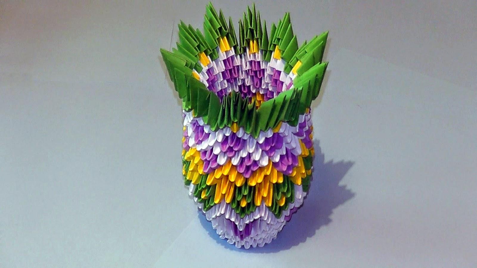 3d Origami Vase Easy Origami Flower Easy