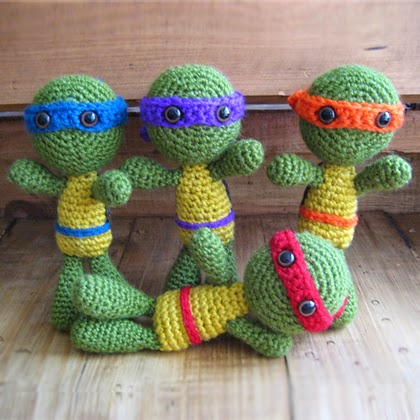 Teenage Mutant Ninja Turtles Crochet... Free pattern