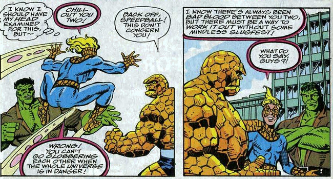 Fantastic Four 368 Thing Hulk Speedball