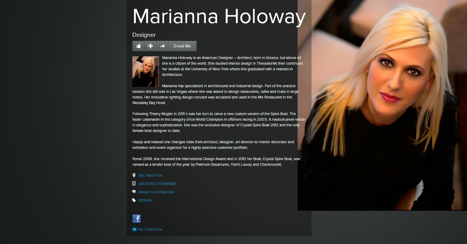 An image of Marianna Holoway, Architect & Designer