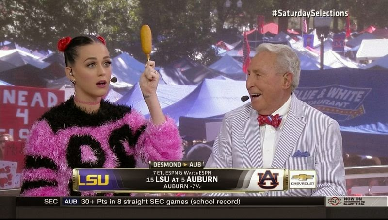 Katy Perry on College GameDay