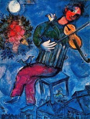 El violinista azul, Marc Chagall, Juan Gelman, poesía, elegía