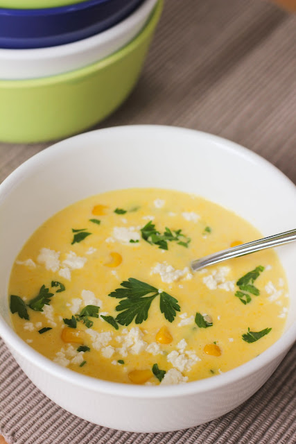 ... Adventure: Fresh Corn Chowder with roasted peppers - Crema de Elote