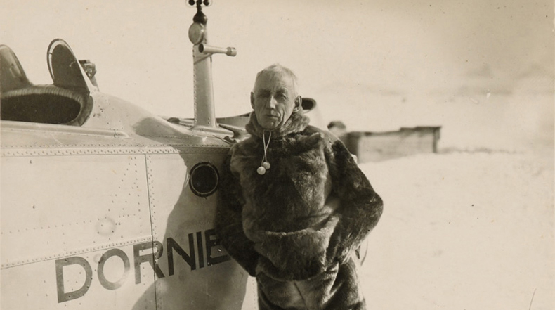 Raros retratos de Roald Amundsen. La primera persona en llegar al Polo Sur