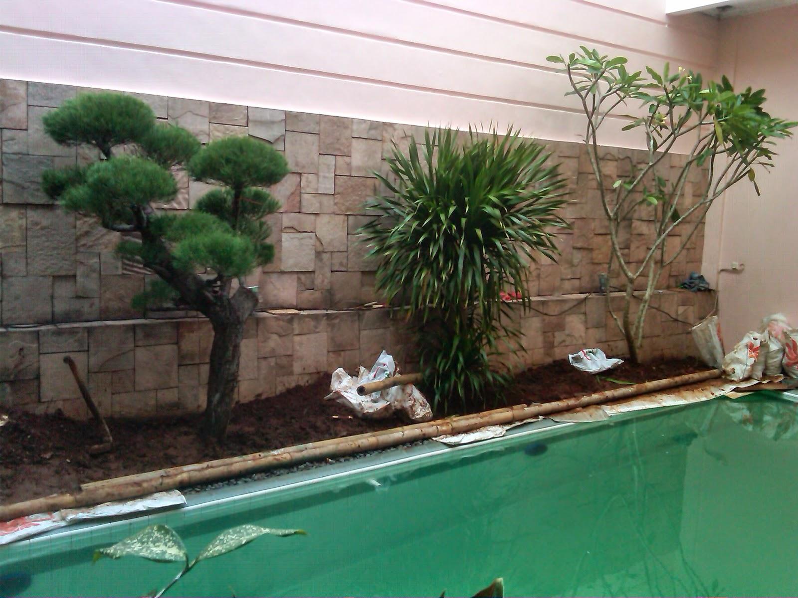 kolam air mancur minimalis | kolam renang