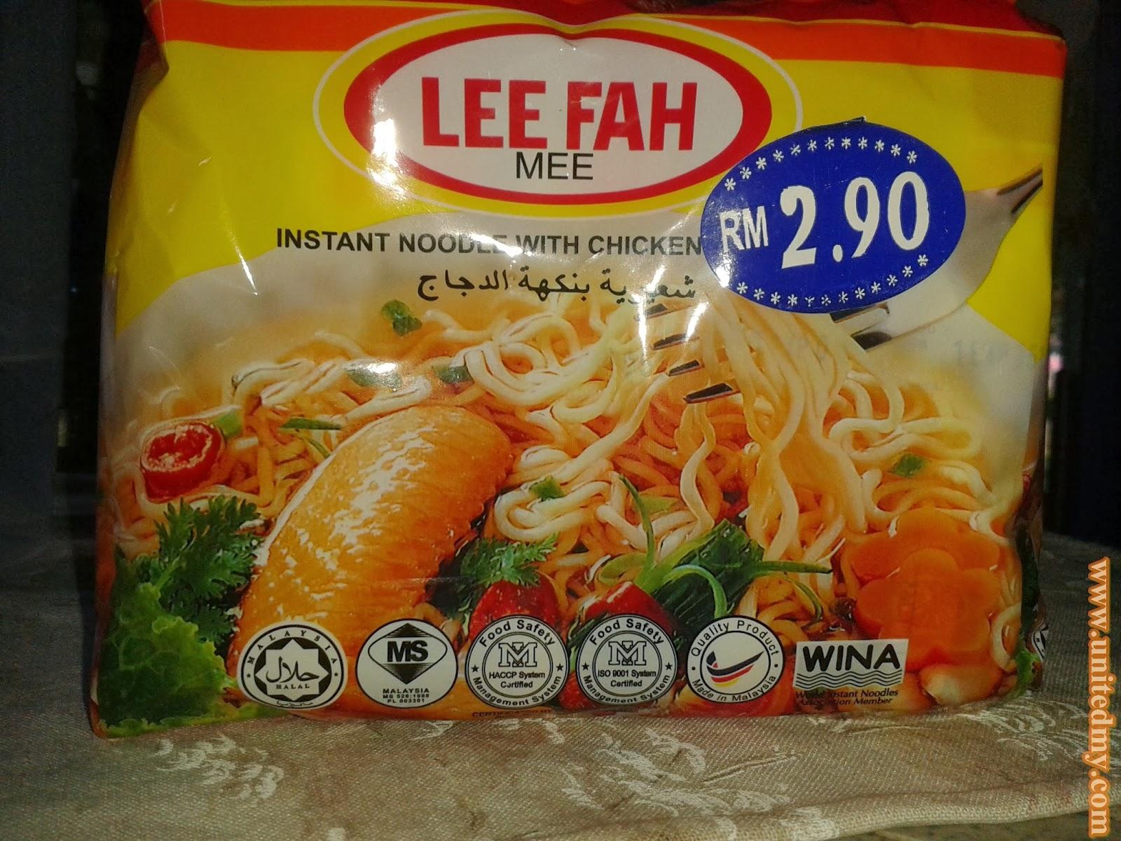 Instant noodle lee fah