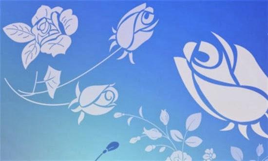 Photoshop Blue Rose Brushes