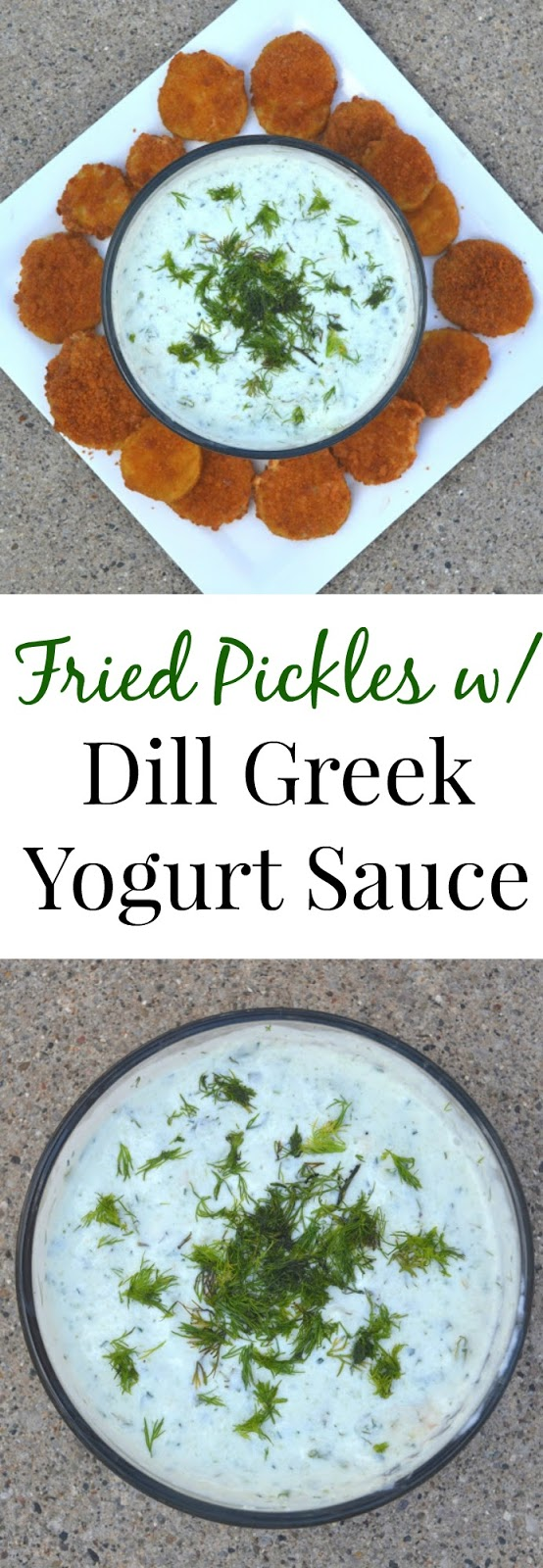 Fried Pickles with Dill Greek Yogurt Sauce- a simple appetizer that is bursting with flavor. You will want to eat the dill Greek yogurt sauce on everything! www.nutritionistreviews.com