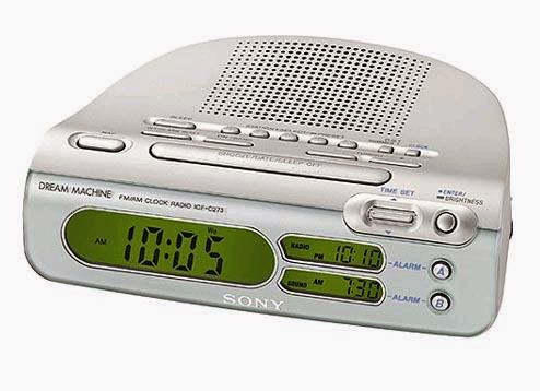 SONY ICF C318 CLOCK RADIO WITH DUAL ALARM BLACK MANUAL