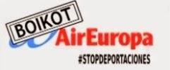 Acció: Escrache a Air Europa, febrer 2014